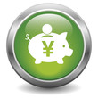 Yen piggy bank icon