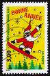 Postage stamp France 1998 Santa Claus, New Year