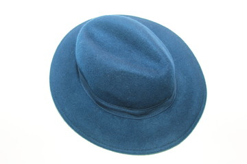 blue top hat in white background