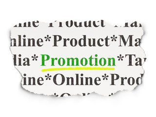 Marketing concept: Promotion on Paper background