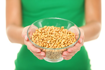 Dried salty soybeans - healthy snack