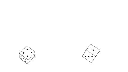 sketch of two dice rolling (FULL HD)
