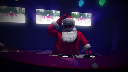 Santa DJ Version 3 . Seamless loop