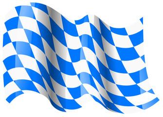 bayern fahne wehend bavaria flag waving