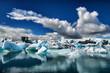 Leinwandbild Motiv Gletscherlagune Island