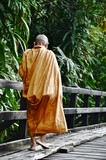 Monk on bridge