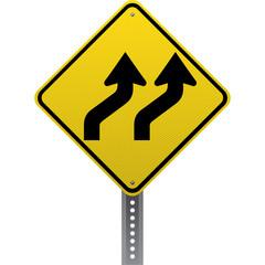 Lanes shifting sign