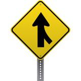 Merging traffic poster