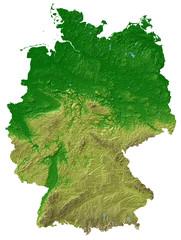 Reliefkarte Deutschland