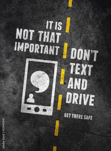 Texting and driving warning