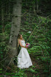 wedding bride in a forest setting