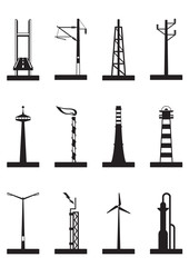 Industrial towers, poles and chimneys