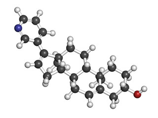 Abiraterone prostate cancer drug, chemical structure.