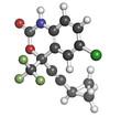 Efavirenz HIV drug (NNRTI class), chemical structure.