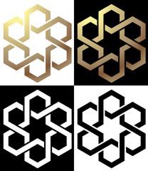 Logo stella ed esagoni
