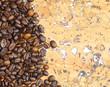 Постер, плакат: Крупным планом кофе в зернах