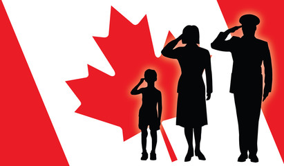 Canada soldier family salut