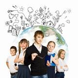 Fototapety Group of kids