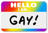 Name Tag Hello I Am Gay Homosexual Coming Out