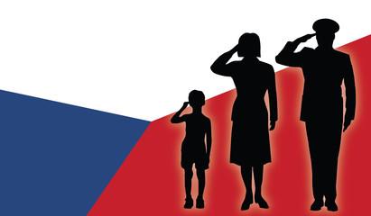 Czech Republic soldier family salut