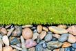 stone and grass decor