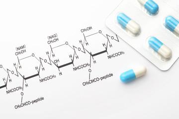 薬と化学の構造式