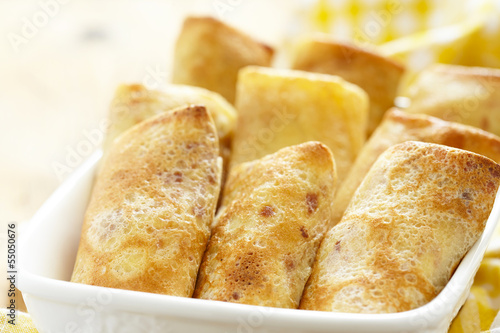 Stuffed pancakes crepes