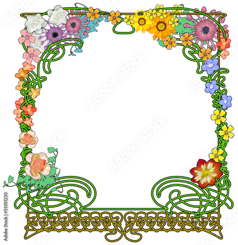Frame with a flower