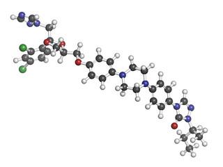 Itraconazole antifungal drug (triazole class).