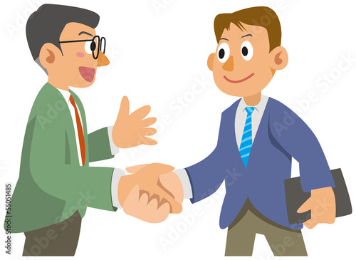 The office worker who shakes hands