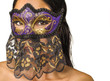 Mystery woman wearing Venetian Mardi Gras Mask