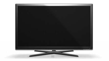 Flat TV Screen - with alpha channel