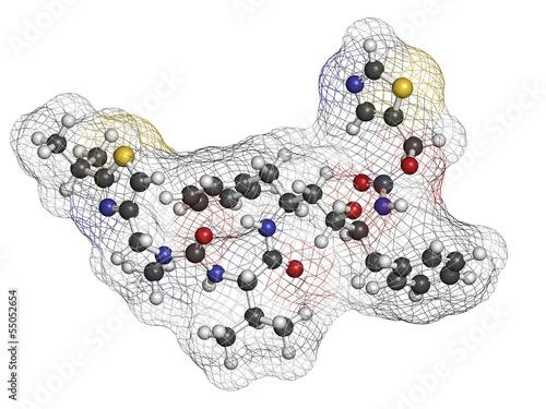 Ritonavir HIV drug (protease inhibitor class).