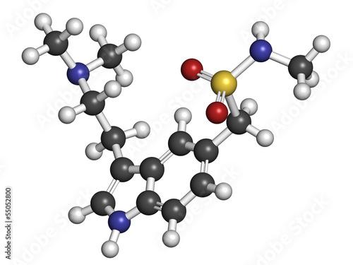 Sumatriptan migraine headache drug (triptan class)