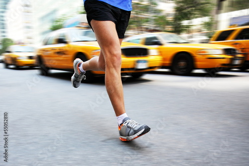 Running in New York City - man city runner