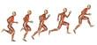 Muskelstudie beim Ansatz zum Sprung - 55053299