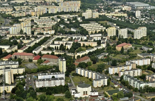 Aerial view of housing estates in Bydgoszcz - Poland