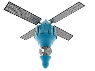 satellite on isolated background