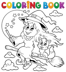 Coloring book Halloween image 1