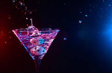 dice and martini