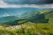 Stormy clouds over Bieszczady mountains, Poland