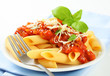 Penne with meat tomato sauce