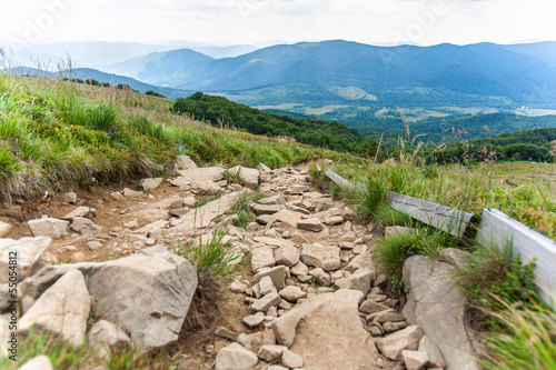 Bieszczady mountains, Poland  View of Tarnica trail