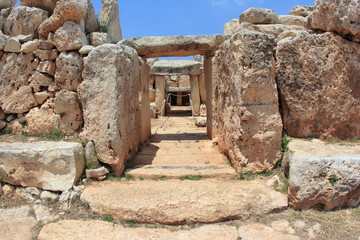 Hagar Qim, ancient Megalithic Temple of Malta