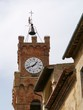 The bell tower of Pienza in Italy