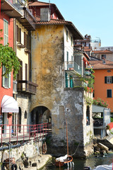 Varenna, old Italian town on the coast of lake Como