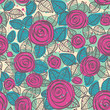Abstract seamless pattern of roses