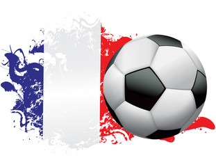 France Soccer Grunge Design