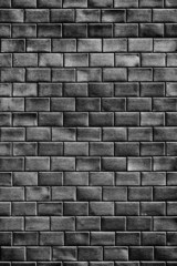 Brick wall in black and white