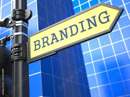Branding Roadsign. Business Concept.
